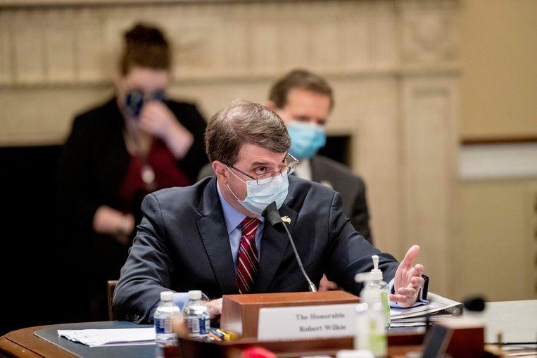 De Amerikaanse minister voor Veteranenzaken Robert Wilkie.