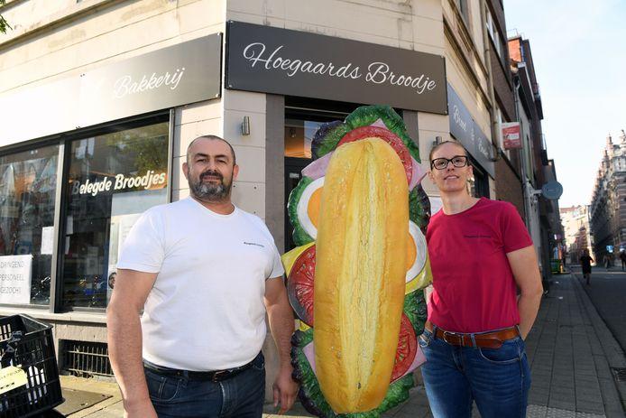 Siegfried Gillis en Kelly Ceuleers van Hoegaards broodje in Leuven