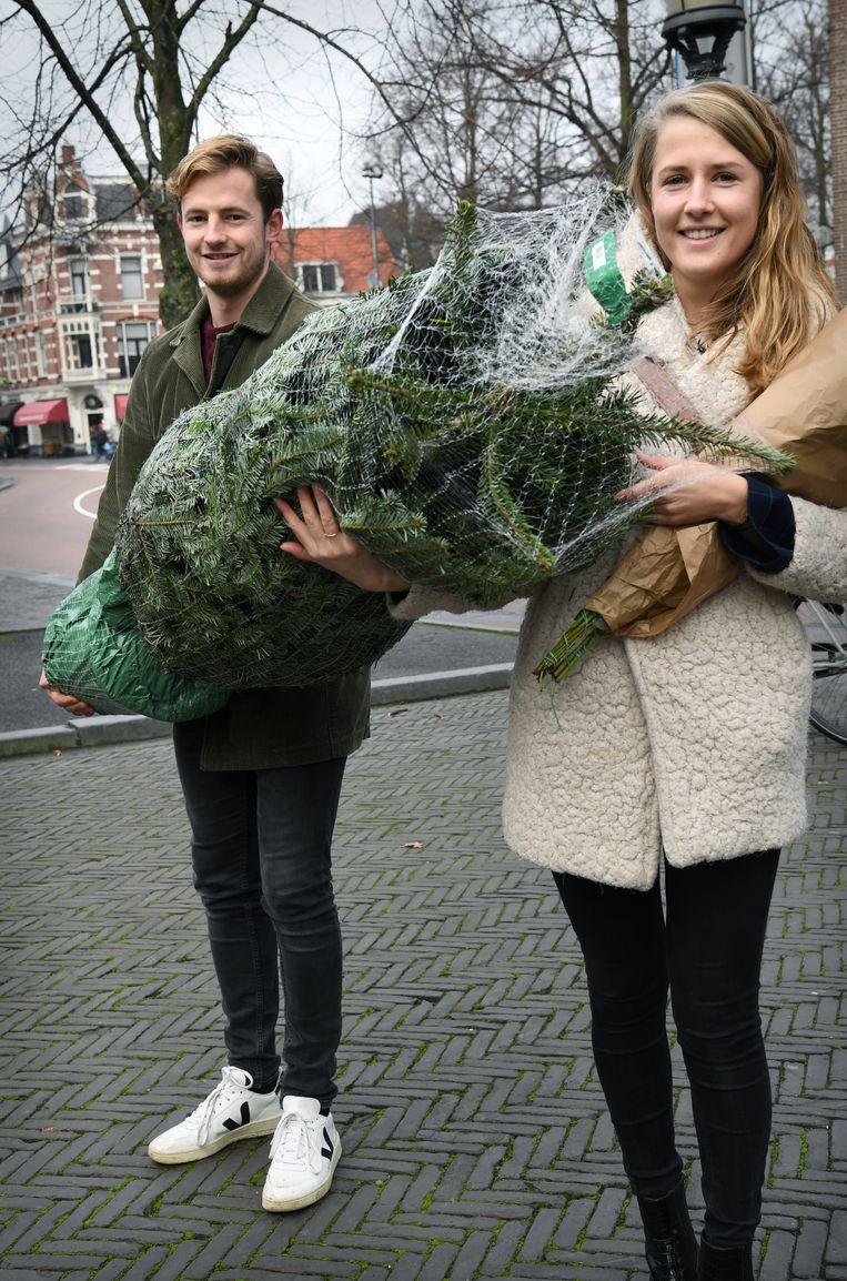 Max en Lonneke Kisman: 'Bij mijn familie splitsen we op, denk ik.' Beeld Marcel van den Bergh / de Volkskrant