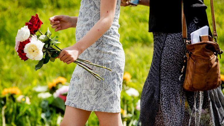 Nabestaanden van de slachtoffers van de ramp met vlucht MH17. Beeld anp