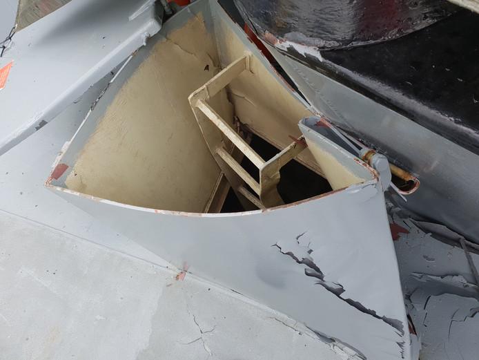 Eén van de tankers liep behoorlijke schade op bij de aanvaring.