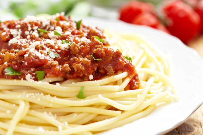 Spaghetti bolognese, daar is niets typisch bolognees, aldus Merola.