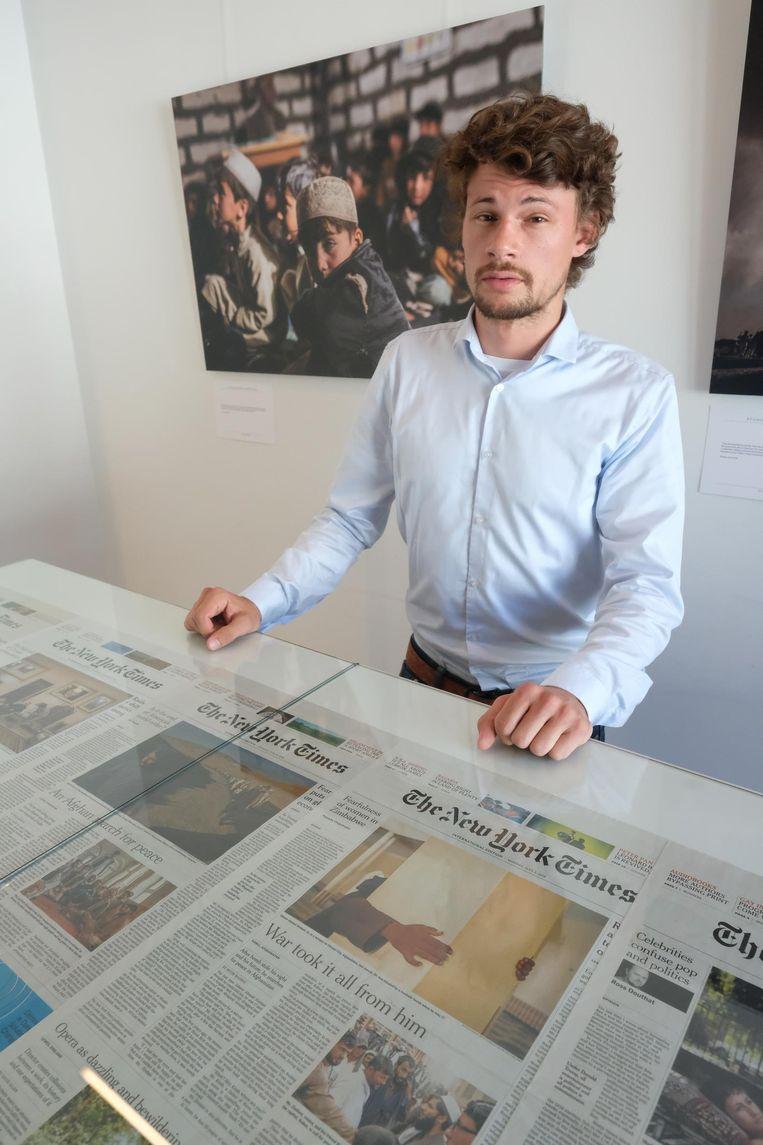 Jim Huylebroeck haalt de frontpagina van The New York Times.
