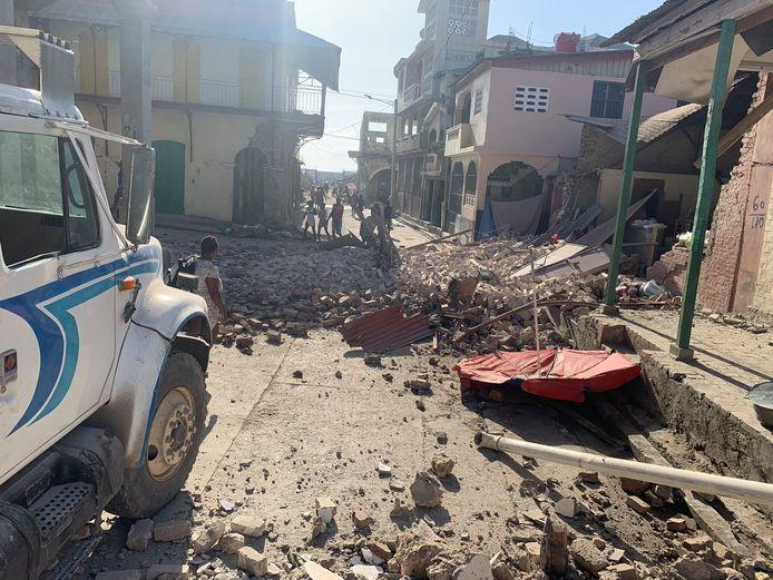 De schade na de zware aardbeving in Haïti.