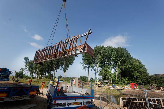 De nieuwe brug in Nijmegen-Noord.