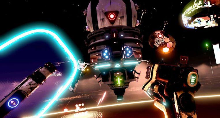 Het wereldwijd bekende 'Space Pirate Trainer' werd de beste vr-game. Beeld I-Illusions