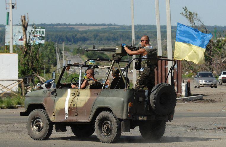 Oekraïense soldaten in de regio Simonovka. Beeld GETTY
