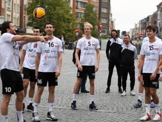 "VIDEO en FOTOREPO VHL trapt Europese campagne af op Grote Markt: ""Alle Leuvenaars gratis naar de wedstrijden"""