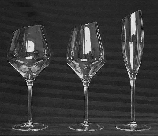 Glazen voor rode, witte en bubbelwijn.