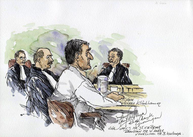 Aquarel van Klinkhamer tijdens zijn proces. Beeld anp