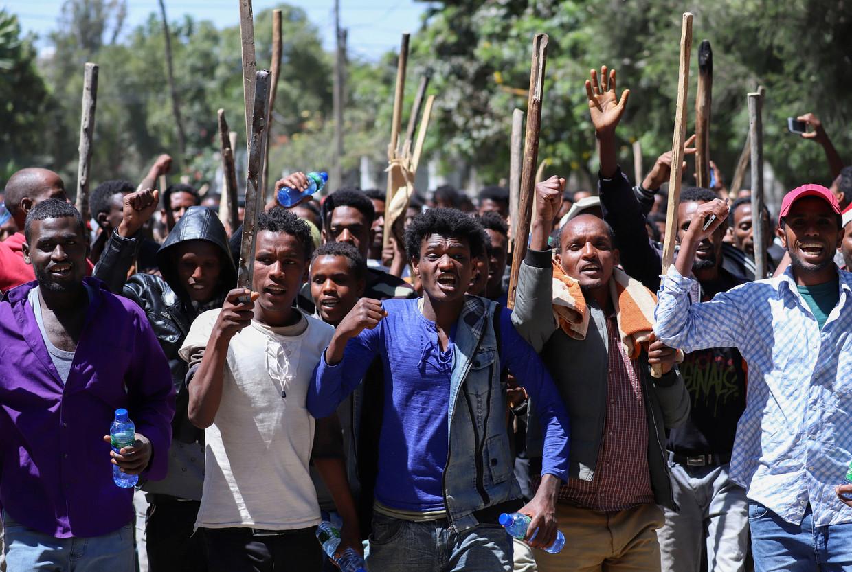 Ook in 2019 werd er in Addis Abeba heftig geprotesteerd door Oromo's.  Beeld REUTERS