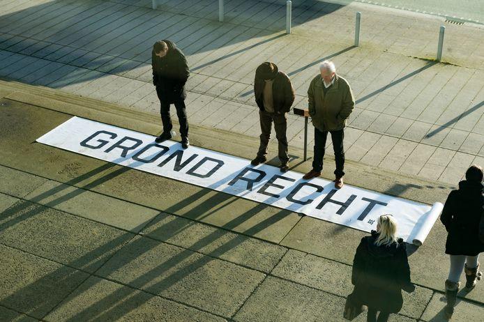 Archiefbeeld: in 2017 protesteerden al eens boeren als eens tegen de verkoop van landbouwgronden door de Stad Gent.