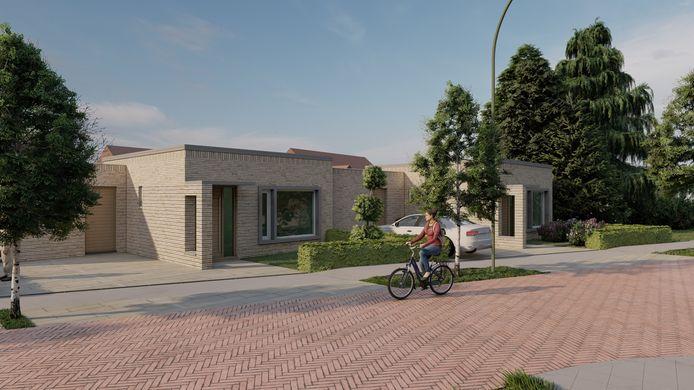 Een impressie van de woningbouw aan de Deken van Baarsstraat en de Treurenburgstraat in Budel.