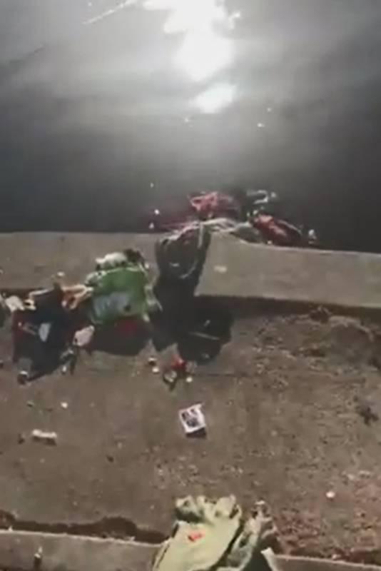 Er komen ook spullen van de dakloze man in het water terecht
