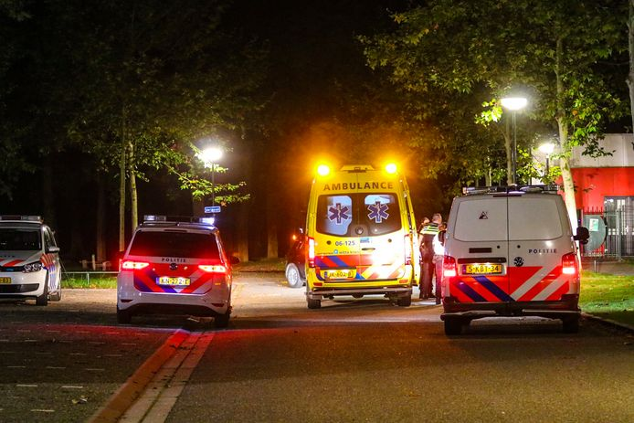 Meerdere politiewagens en een ambulance kwamen maandagavond naar de Zilverschoon in Apeldoorn. Daar vond volgens de politie een steekincident plaats.