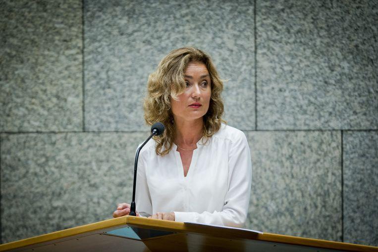 Tien procent van het geld dat nu wordt besteed aan drugsbestrijding zou moeten gaan naar de zorg voor drugsgebruikers, stellen Vera Bergkamp (D66, foto) en Marit Volp (PvdA). Beeld anp