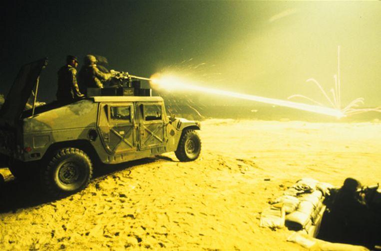 De Amerikaanse Humvee waarvan IS veel heeft buitgemaakt in Irak. Beeld Foto: AM General