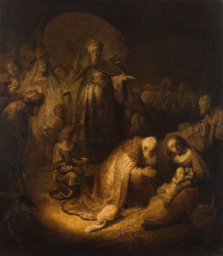 De aanbidding der wijzen, de versie die hangt in Sint-Petersburg. Beeld Hermitage