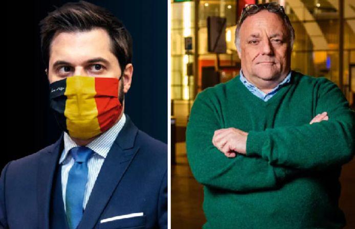 Ce n'est pas la première fois que Georges-Louis Bouchez et Marc Van Ranst se répondent sur Twitter
