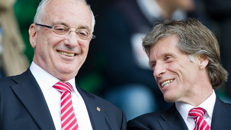 Voormalig RvC-voorzitter Uri Coronel en oud-directeur Rik van den Boog. Beeld PRO SHOTS