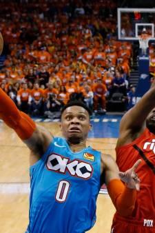 Westbrook helpt Thunder aan eerste zege tegen Portland