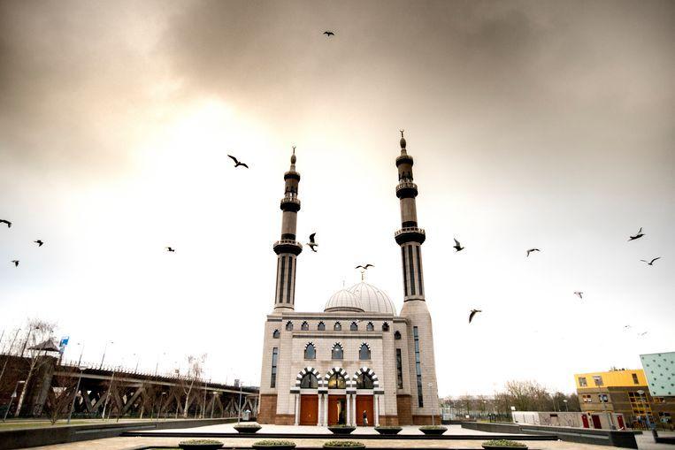 De Rotterdamse Essalam moskee in Rotterdam werd deels betaald door een omstreden oliesjeik. Beeld ANP