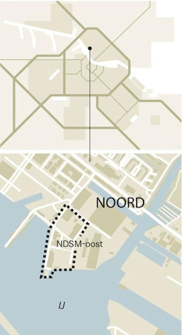 'De NDSM is een soort schiereiland' Beeld Laura Van Der Bijl