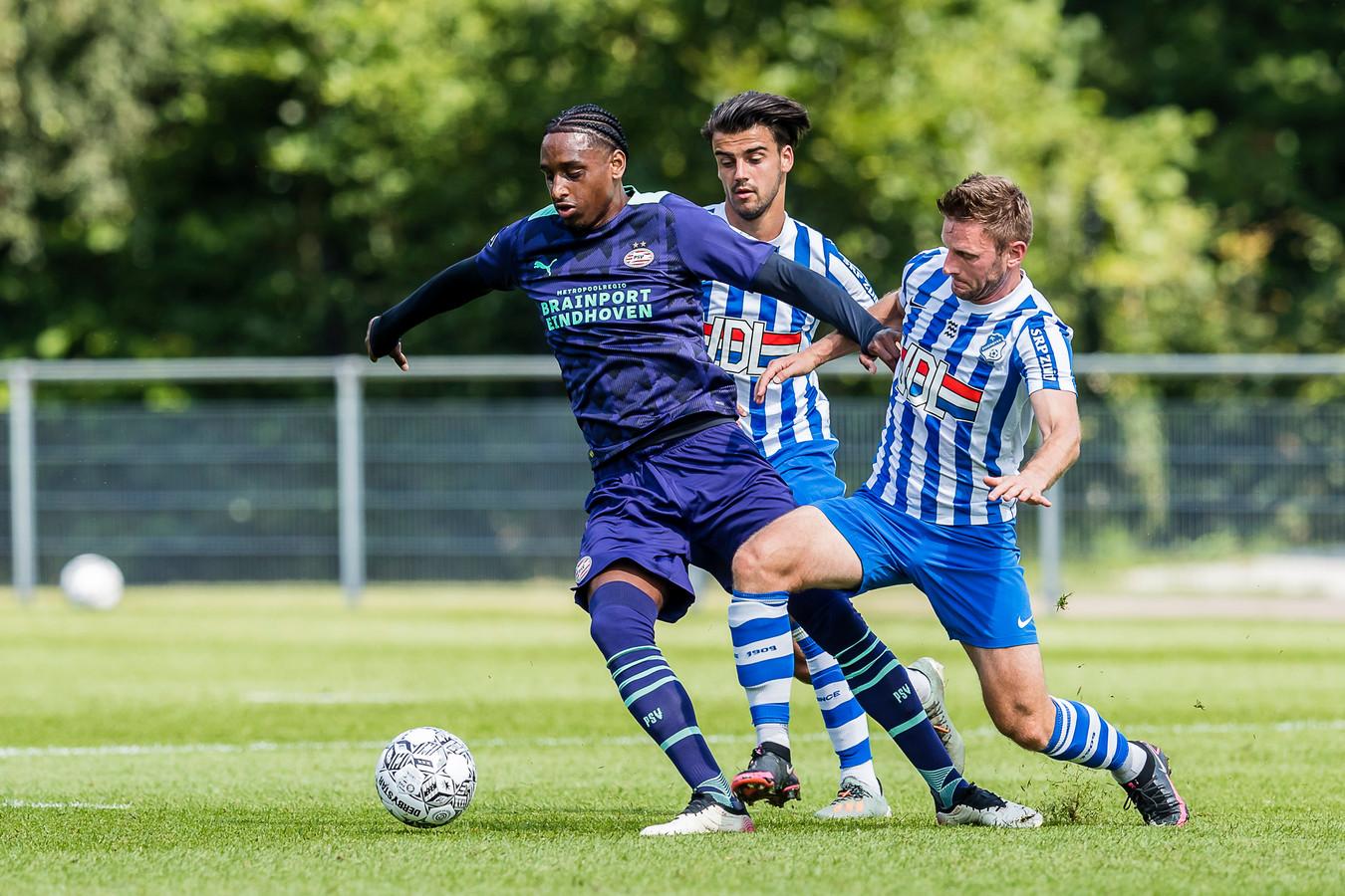 Pablo Rosario in het oefenduel met FC Eindhoven van afgelopen week.