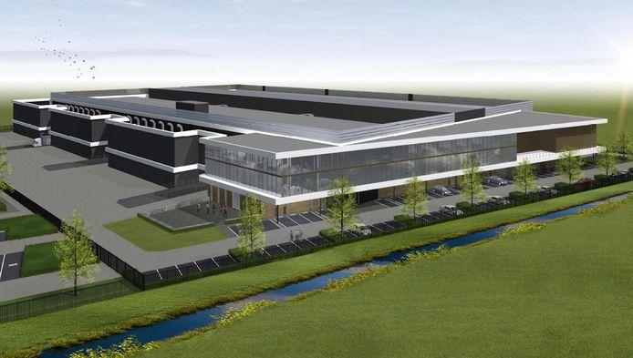 Het nieuwe datacentrum dat Interxion voor 128 miljoen euro gaat bouwen bij Hoofddorp.