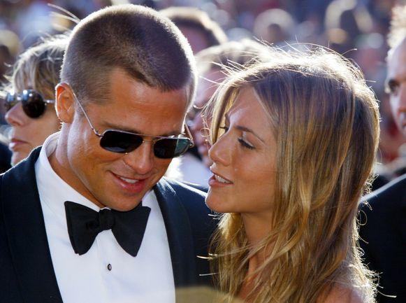 Brad Pitt en Jennifer Aniston in 2004. Een jaar later kondigden ze hun scheiding aan.