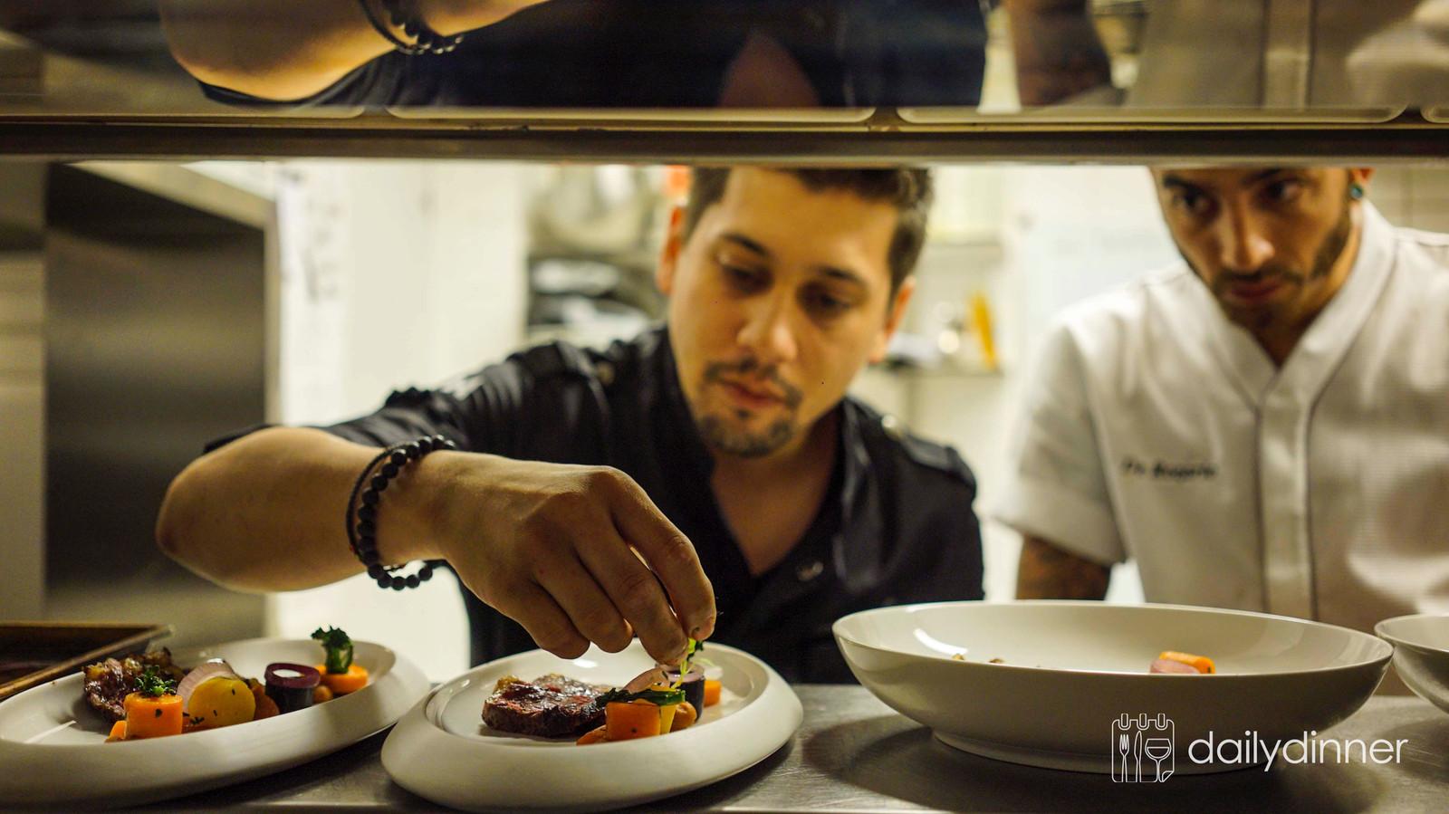 Chefkok Jermain de Rozario in zijn restaurant De Rozario in Helmond.