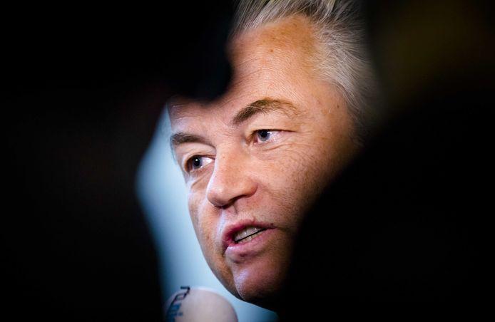 2018-01-30 15:02:25 DEN HAAG - Geert Wilders (PVV) tijdens het wekelijkse vragenuur in de Tweede Kamer. ANP BART MAAT