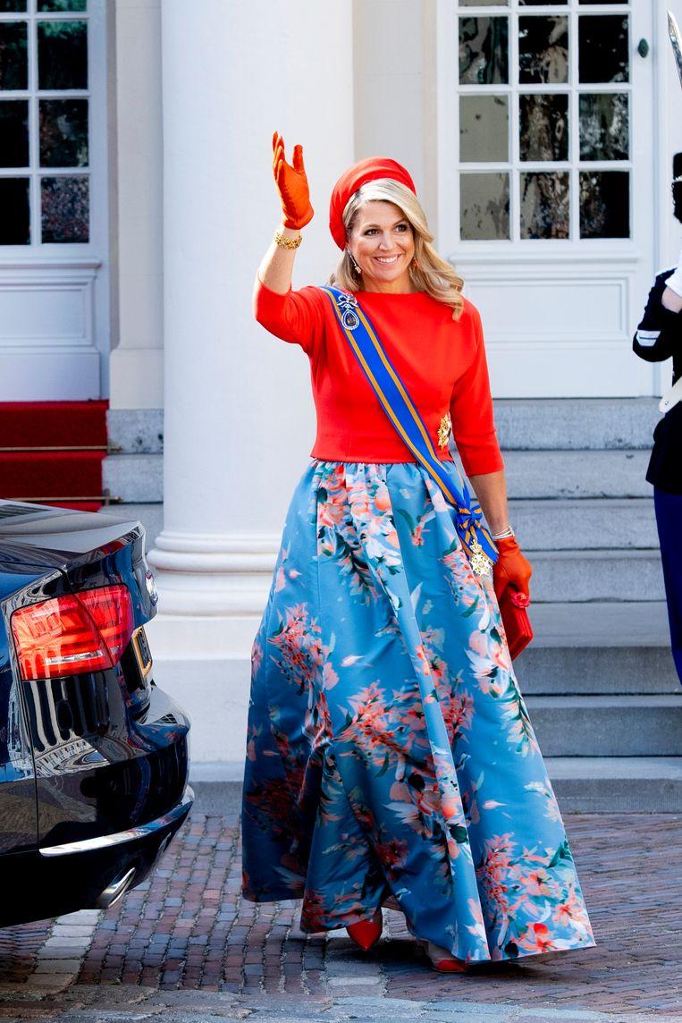 Koningin Máxima, Prinsjesdag 2021 Beeld Brunopress/Patrick van Emst