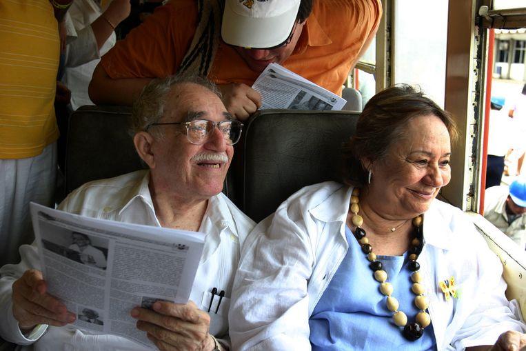 Gabriel García Márquez met Mercedes Barcha Pardo, in 2007.  Beeld AFP