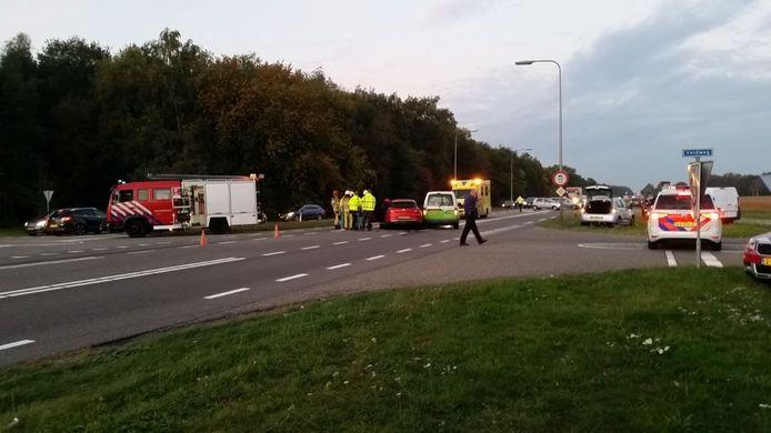 Ongeval op de N340 bij Dalfsen.