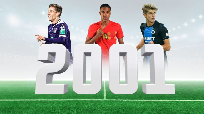 Verschaeren, Yayi Mpie en De Ketelaere, enkele talentvolle Belgische voetballers die geboren zijn in 2001.