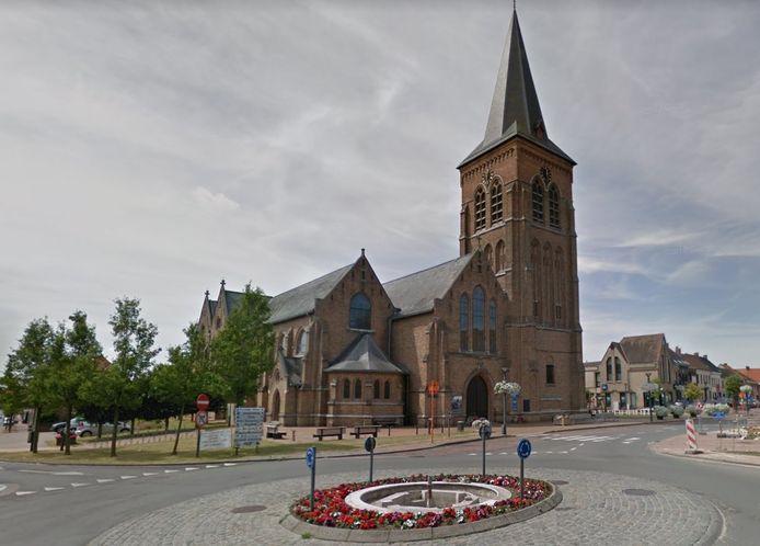 De dief sloeg toe in de kerk van Kortemark.