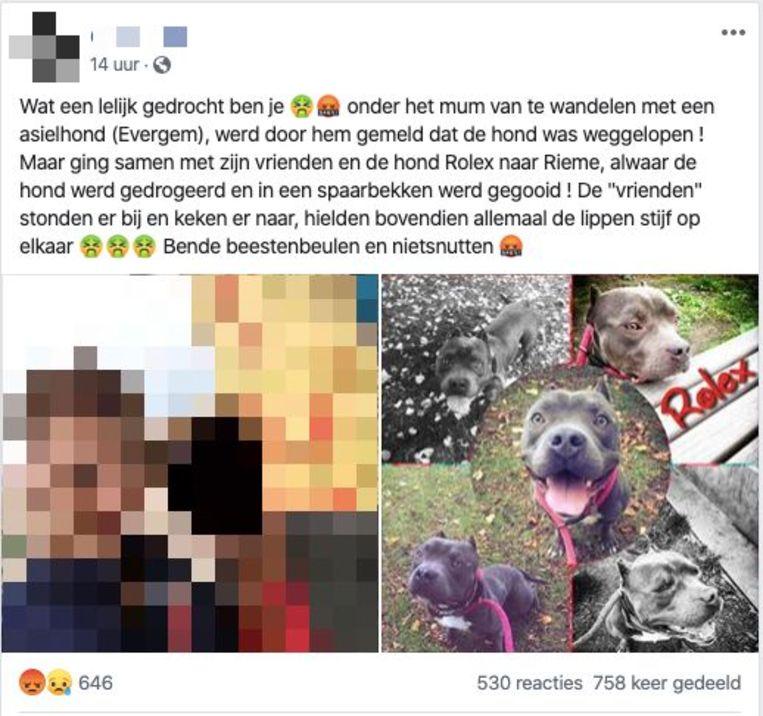 Enkele Facebookposts werden duizenden keren gedeeld, ook al staat de schuld van de jongeman helemaal niet vast.
