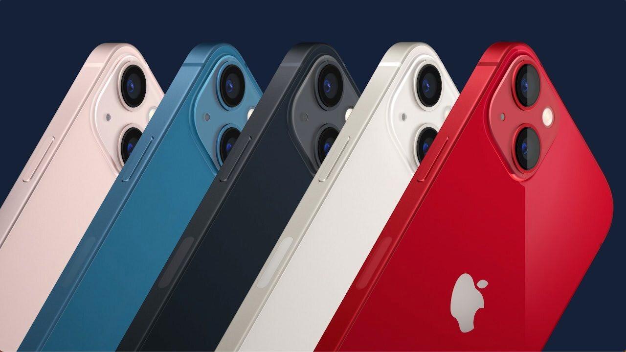 De iPhone 13 komt in vijf kleurvarianten.