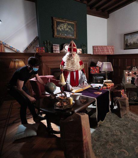 Opnamen voor videoclip in Kasteel Helmond met Sinterklaas Bram van der Vlugt