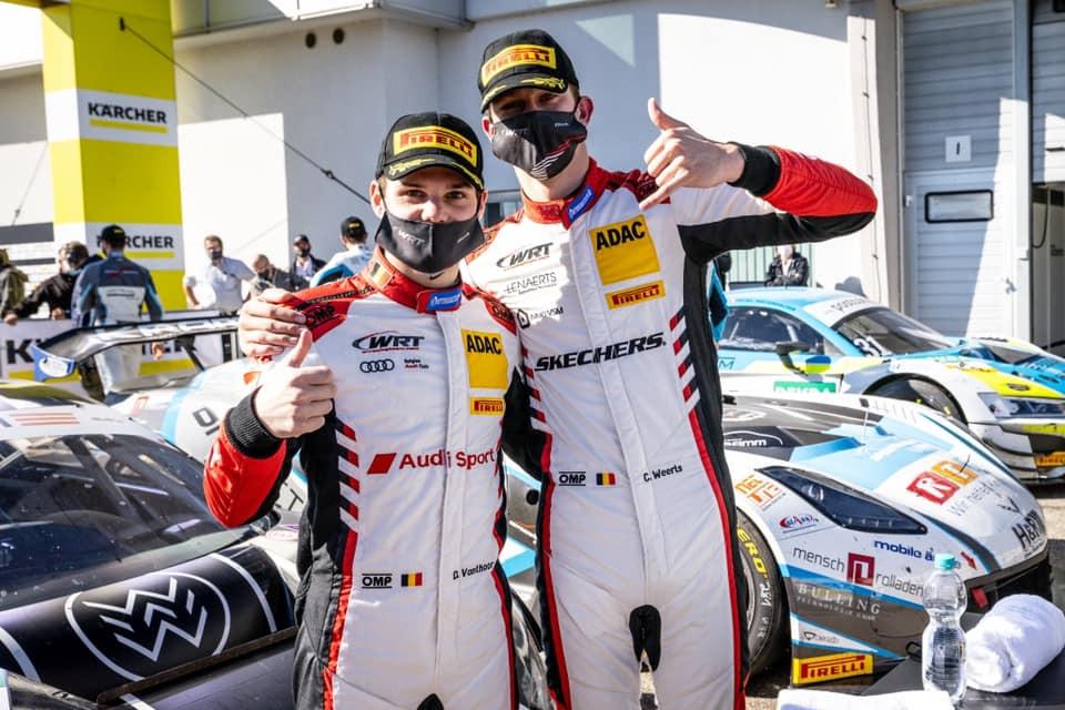 Dries Vanthoor et Charles Weerts ont bien tenu le volant de leur Audi aux 24 Heures de Spa-Francorchamps.