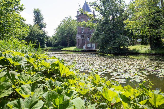 Het Prinsenhof in Hasselt, gelegen aan een rivier met heel wat groen errond.