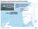 Bergingspoging vrachtschip Eemslift Hendrika.