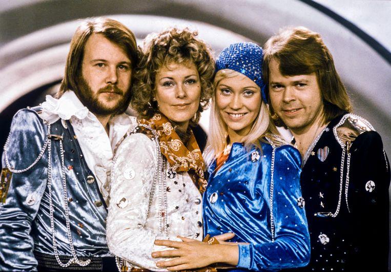 De iconische popgroep ABBA. Beeld AFP