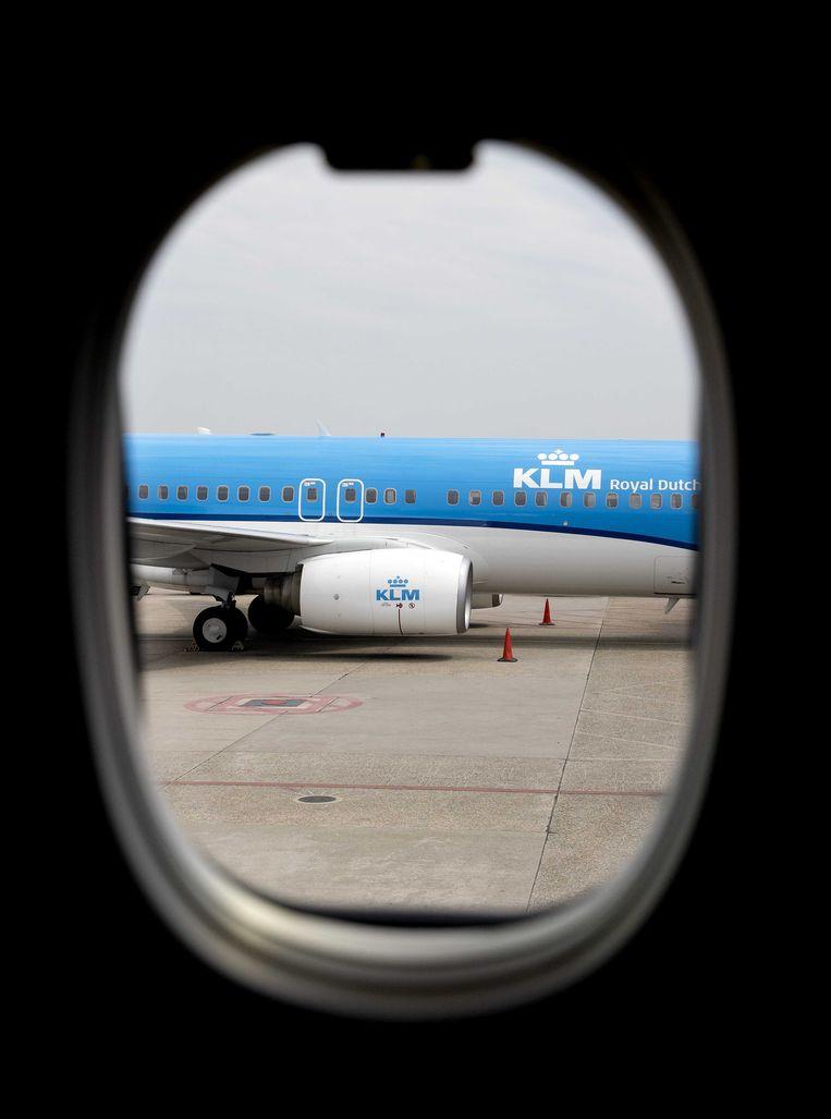 Harm Kreulen van KLM Nederland: 'Transferpassagiers stellen KLM in staat vanuit Nederland rechtstreeks naar 172 bestemmingen te vliegen.'  Beeld Koen van Weel/ANP