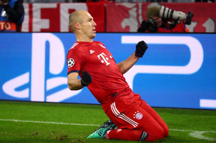 Arjen Robben, onlangs nog twee keer trefzeker tegen Benfica.