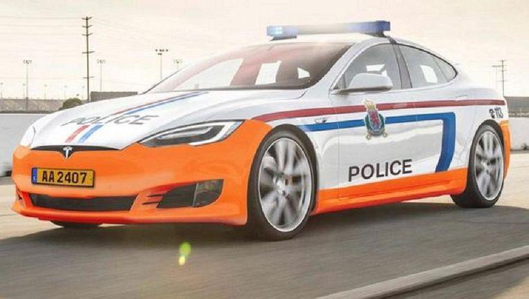 De Tesla Model S wordt binnenkort in een ander kleedje gestoken in Luxemburg. Beeld RTL.lu