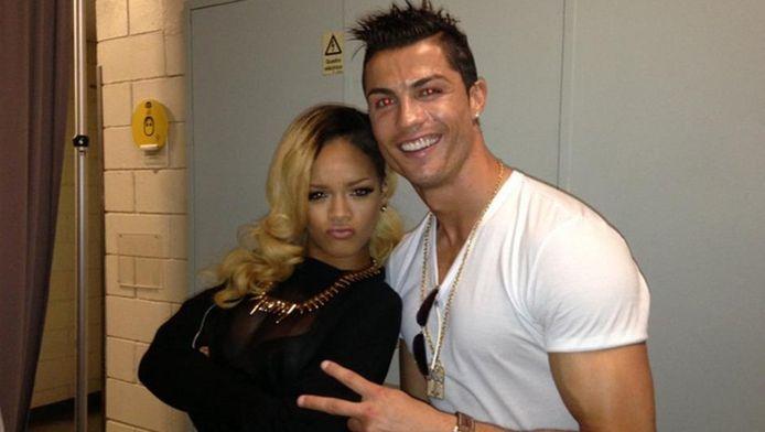 Rihanna et Cristiano Ronaldo après un concert à Lisbonne.