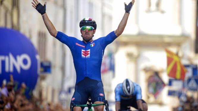 Colbrelli champion d'Europe, immense déception pour Evenepoel battu au sprint