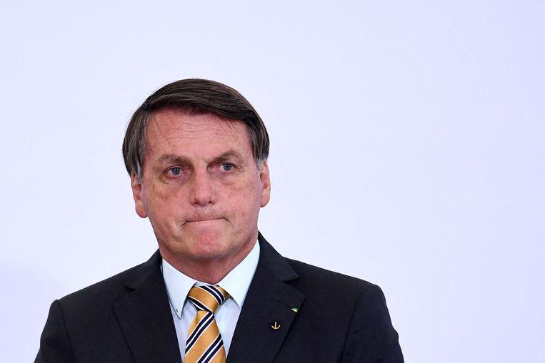 De Braziliaanse president Jair Bolsonaro. Beeld AFP